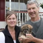 Munson pup Elouise goes home2